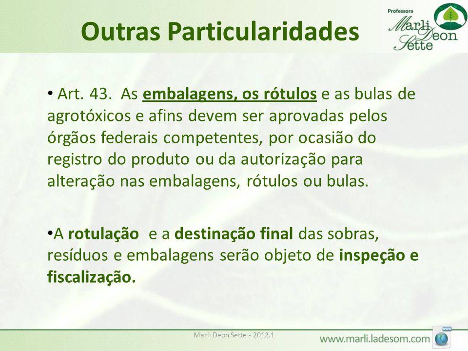 Outras Particularidades Art.43.