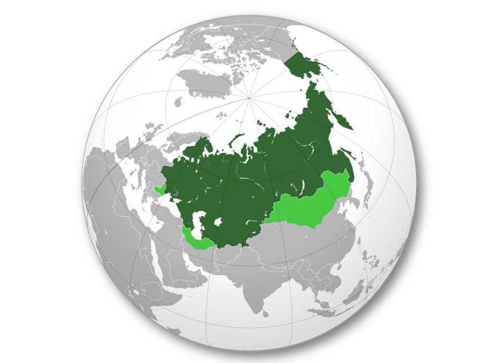 GEOGRAFIA DA RÚSSIA: LOCALIZAÇÃO: uma parte no leste da Europa e outra no norte da Ásia.