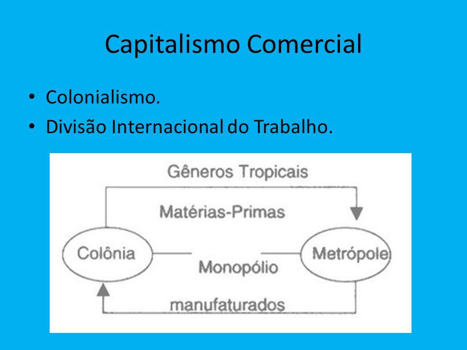 Capitalismo Comercial Colonialismo. Divisão Internacional do Trabalho.