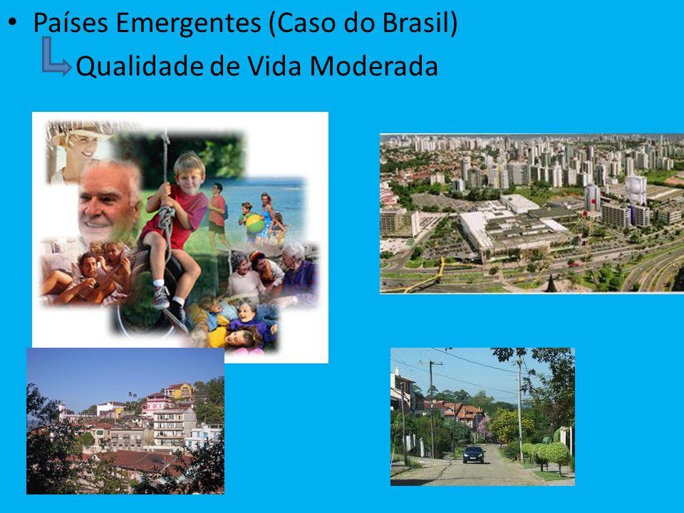 Países Emergentes (Caso do Brasil) Qualidade de Vida Moderada
