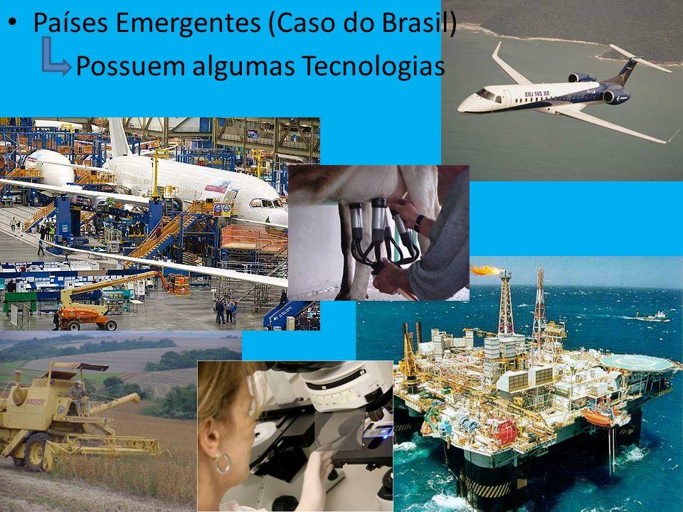 Países Emergentes (Caso do Brasil) Possuem algumas Tecnologias