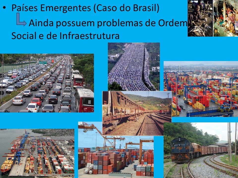Países Emergentes (Caso do Brasil) Ainda possuem problemas de Ordem Social e de Infraestrutura