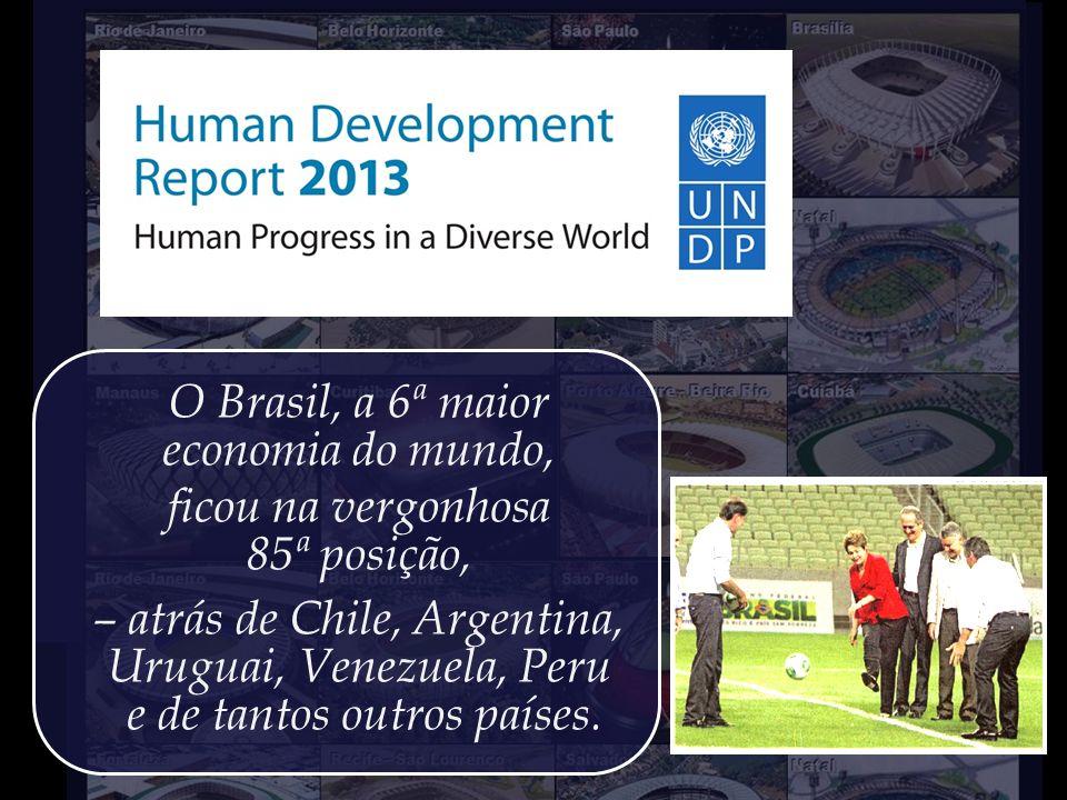 Recentemente, a Organização das Nações Unidas divulgou o IDH 2013, – uma medida comparativa do bem-estar da população dos diversos países do mundo, es