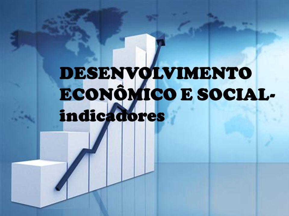 DESENVOLVIMENTO ECONÔMICO E SOCIAL- indicadores