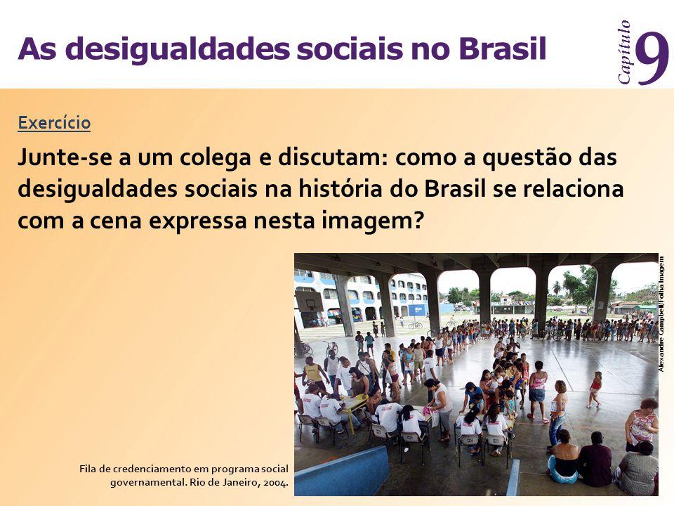As desigualdades sociais no Brasil Capítulo 9 Exercício Fila de credenciamento em programa social governamental. Rio de Janeiro, 2004. Alexandre Campb