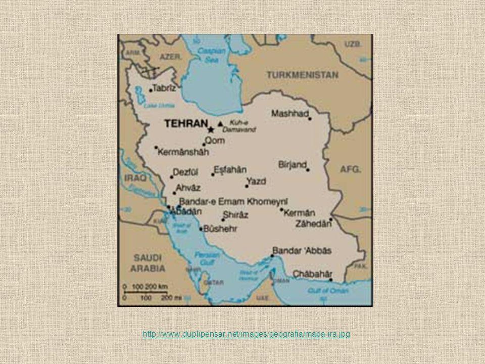 2009 Reeleição polê- mica de Ahmadi- nejad 2005 Vitória de Mahmoud Ahmadinejad 1989 Morte do aiatolá Ruhollah Khomeini 1995 Sanções dos Estados Unidos 680 Divisão entre xiitas e sunitas 663 Invasão ao Império Persa 1997 Mandato de Mohammed Khatami 1804 Influência inglesa na Pérsia 1921 Modernização da Pérsia 1935 De Pérsia para Irã 1941 Modernização do Irã 1953 a 1970 Período de repressão 1501 a 1722 Religião oficial: islamismo xiita 1979 Revolução Islâmica e instauração da república islâmica 1980 a 1988 Guerra Irã x Iraque Linha do tempo do Irã (fora de escala)