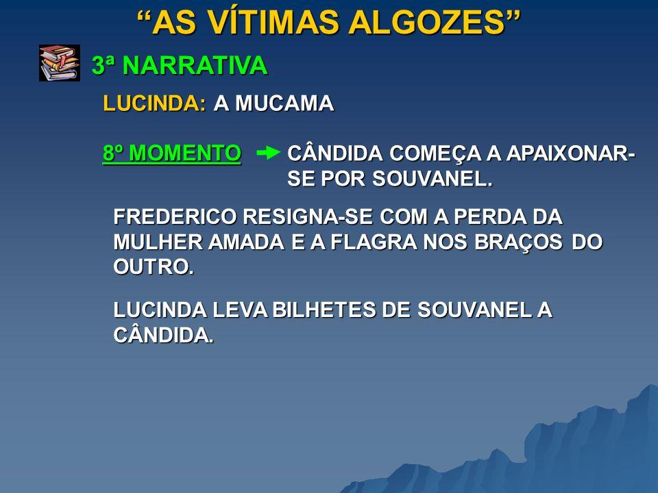 AS VÍTIMAS ALGOZES 3ª NARRATIVA CÂNDIDA COMEÇA A APAIXONAR- SE POR SOUVANEL. 8º MOMENTO LUCINDA: A MUCAMA FREDERICO RESIGNA-SE COM A PERDA DA MULHER A