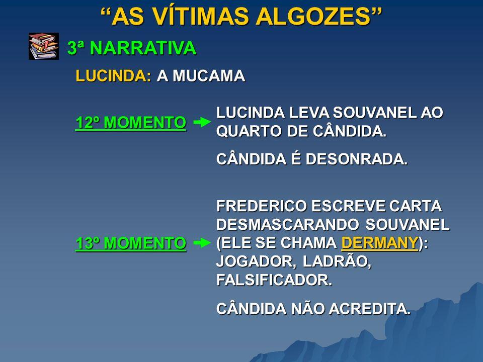 AS VÍTIMAS ALGOZES 3ª NARRATIVA LUCINDA LEVA SOUVANEL AO QUARTO DE CÂNDIDA. 12º MOMENTO LUCINDA: A MUCAMA FREDERICO ESCREVE CARTA DESMASCARANDO SOUVAN