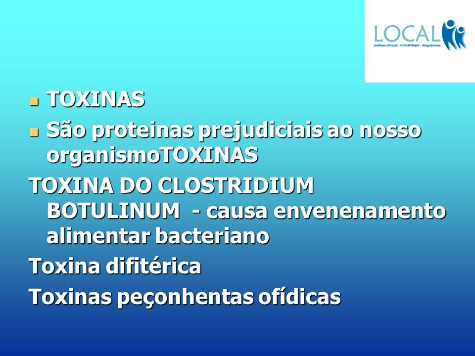 TOXINAS TOXINAS São proteinas prejudiciais ao nosso organismoTOXINAS São proteinas prejudiciais ao nosso organismoTOXINAS TOXINA DO CLOSTRIDIUM BOTULI