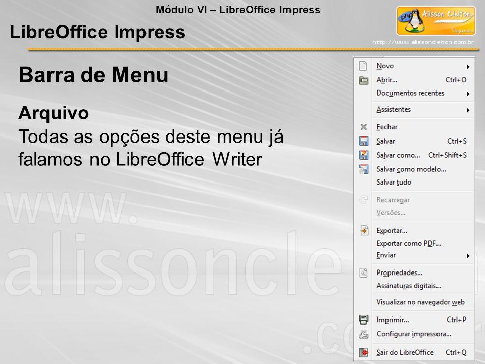 O LibreOffice Impress é um poderoso editor de apresentações muito utilizado quando for preciso fazer a exibição de trabalhos, projetos, aulas e afins em slides coloridos e interativos.