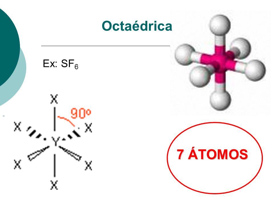 Octaédrica 7 ÁTOMOS Ex: SF 6