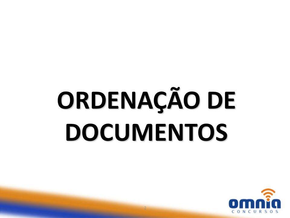 ORDENAÇÃO DE DOCUMENTOS 2