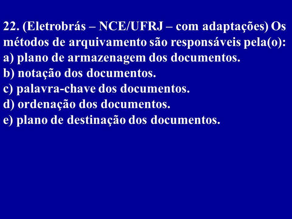 21.(Infraero/1997 – UNB/CESPE) Considere os seguintes nomes de firmas, empresas e instituições: I.