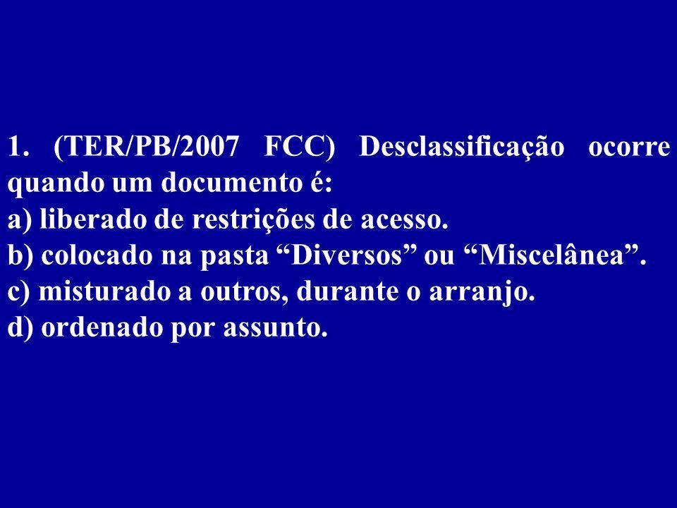 Capítulo 3 Classificação dos Arquivos e dos Documentos