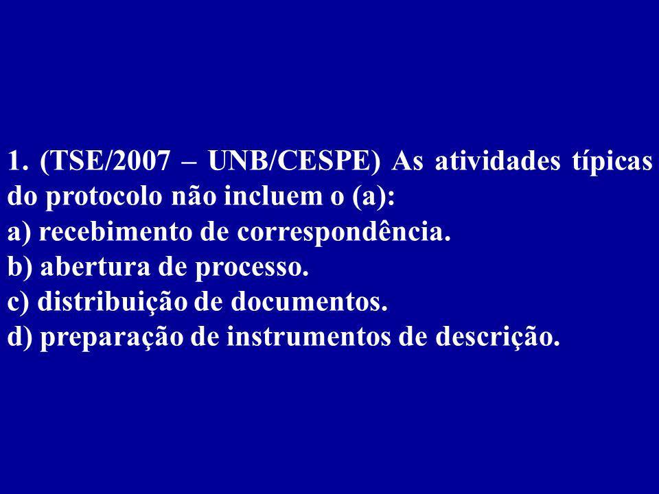 Capítulo 4 Organização e Administração de Arquivos/Correspondências/Atividades dos Arquivos Correntes