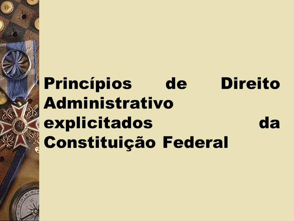Princípios de Direito Administrativo explicitados da Constituição Federal