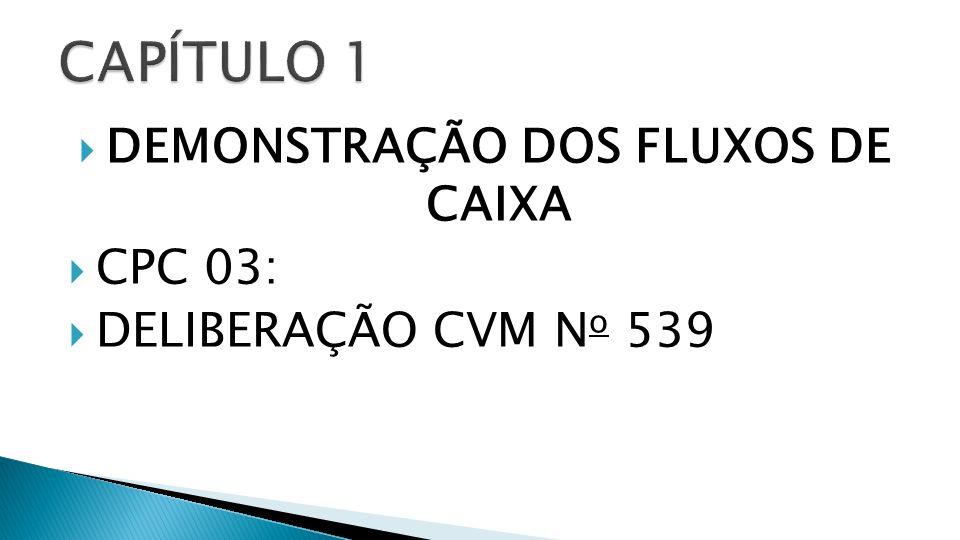 DEMONSTRAÇÃO DOS FLUXOS DE CAIXA CPC 03: DELIBERAÇÃO CVM N o 539