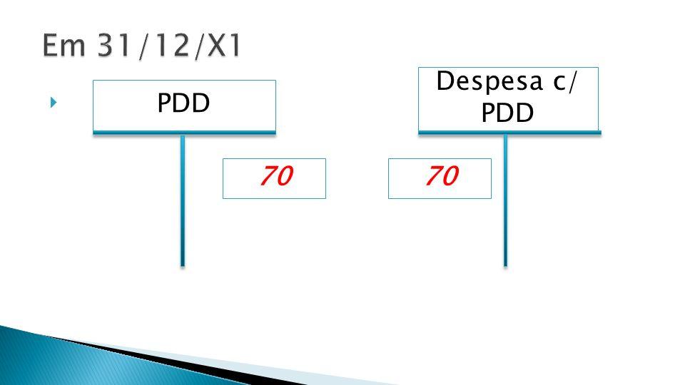 Despesa c/ PDD PDD 70