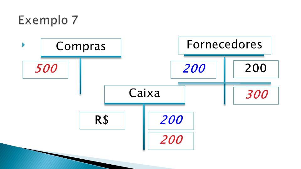 Caixa Fornecedores 200 500 Compras 200 R$ 300 200