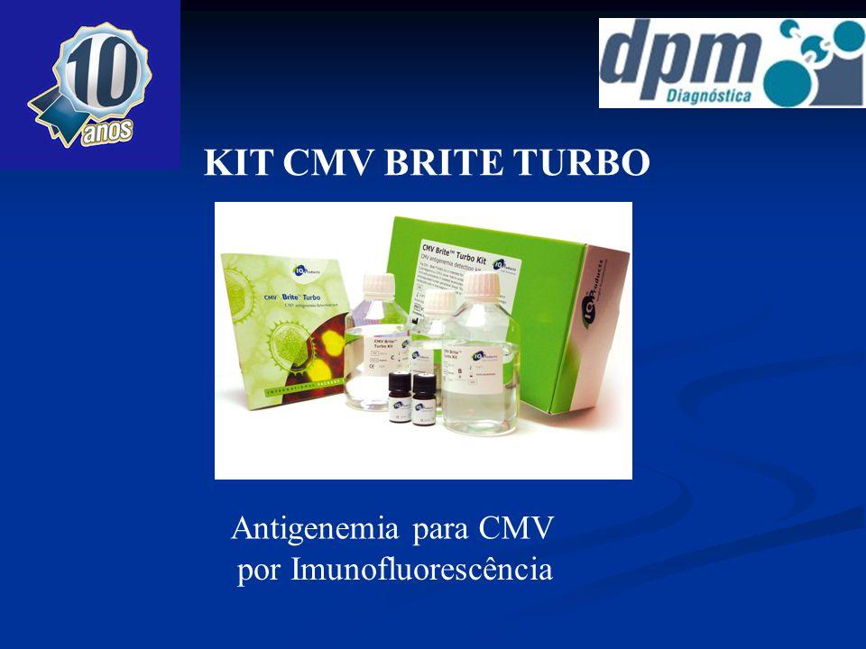 KIT CMV BRITE TURBO Antigenemia para CMV por Imunofluorescência