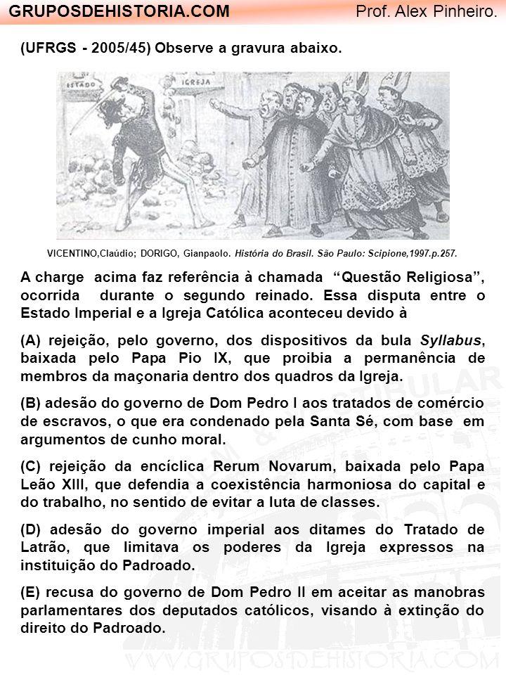GRUPOSDEHISTORIA.COM Prof. Alex Pinheiro. (UFRGS - 2005/45) Observe a gravura abaixo. VICENTINO,Claúdio; DORIGO, Gianpaolo. História do Brasil. São Pa