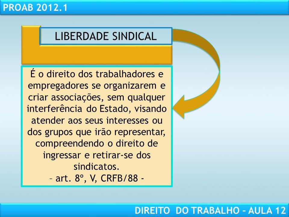RESPONSABILIDADE CIVIL AULA 1 PROAB 2012.1 DIREITO DO TRABALHO – AULA 12 Unicidade sindical É o sindicato único por imposição legal.