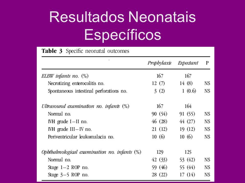 Resultados Neonatais Específicos