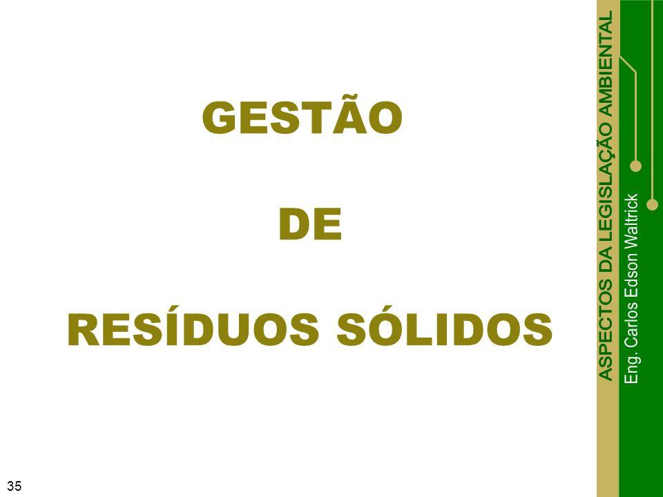 35 GESTÃO DE RESÍDUOS SÓLIDOS