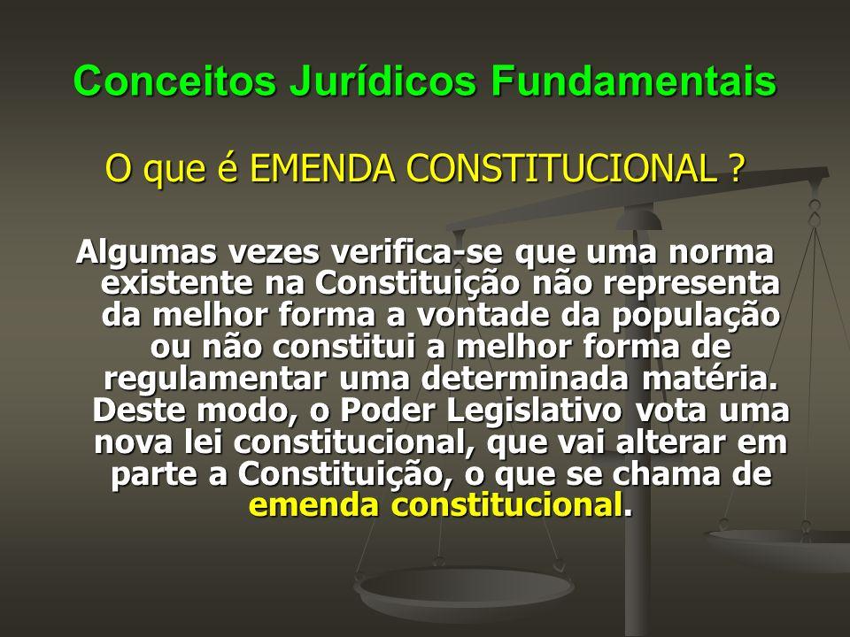 Conceitos Jurídicos Fundamentais As Convenções da OIT, devidamente aprovadas no Congresso Nacional, e ratificadas pelo Presidente da República, adquirem o status de Emenda Constitucional, conforme Art.