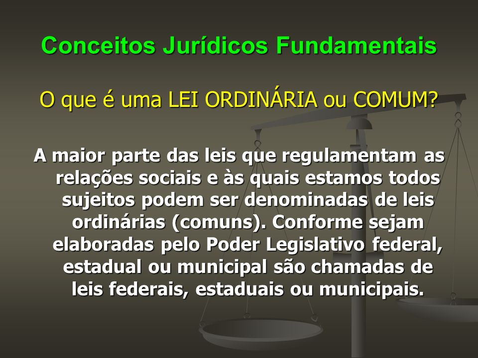 Conceitos Jurídicos Fundamentais O que é uma MEDIDA PROVISÓRIA .