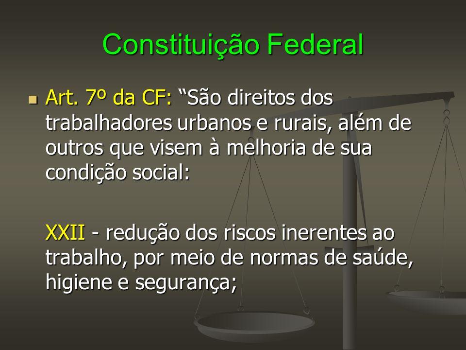 Constituição Federal XXIII - adicional de remuneração para as atividades penosas, insalubres ou perigosas, na forma da lei.