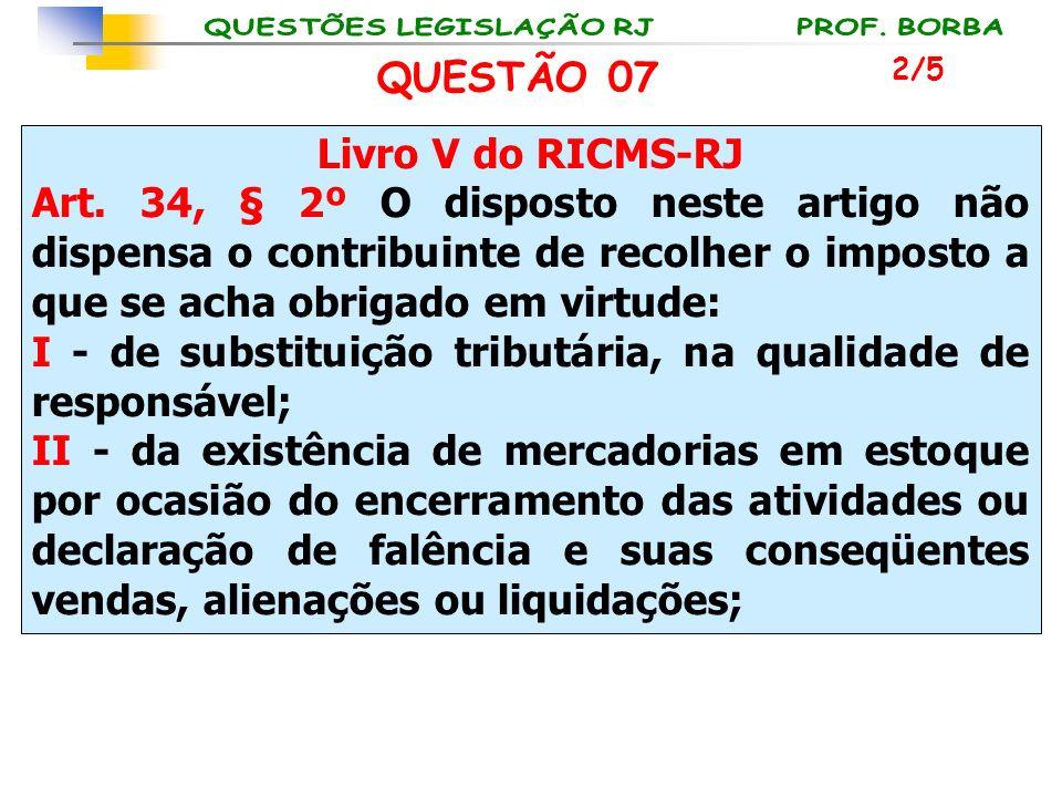 Livro V do RICMS-RJ Art. 34, § 2º O disposto neste artigo não dispensa o contribuinte de recolher o imposto a que se acha obrigado em virtude: I - de