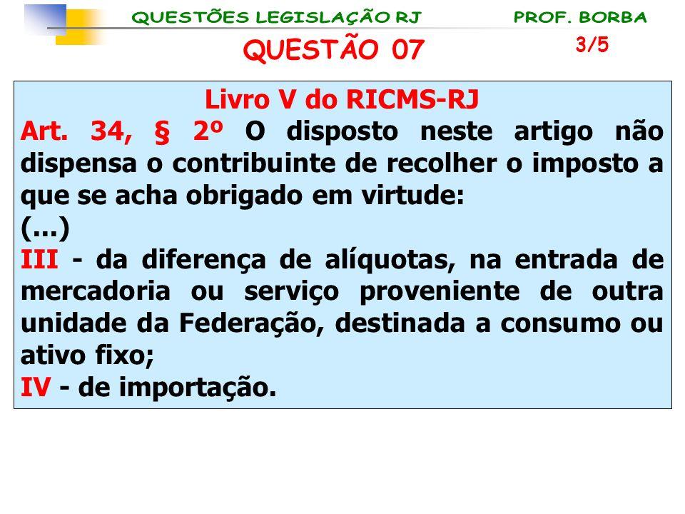 Livro V do RICMS-RJ Art. 34, § 2º O disposto neste artigo não dispensa o contribuinte de recolher o imposto a que se acha obrigado em virtude: (...) I