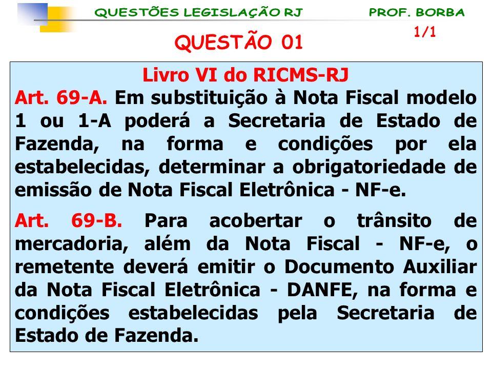 Livro VI do RICMS-RJ Art. 69-A. Em substituição à Nota Fiscal modelo 1 ou 1-A poderá a Secretaria de Estado de Fazenda, na forma e condições por ela e