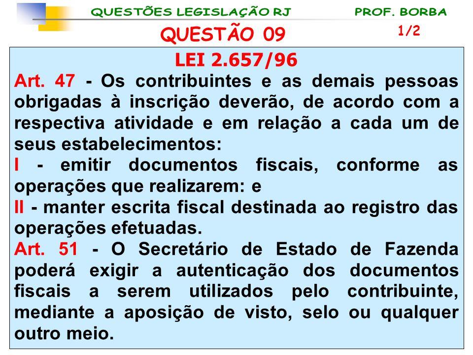 LEI 2.657/96 Art. 47 - Os contribuintes e as demais pessoas obrigadas à inscrição deverão, de acordo com a respectiva atividade e em relação a cada um