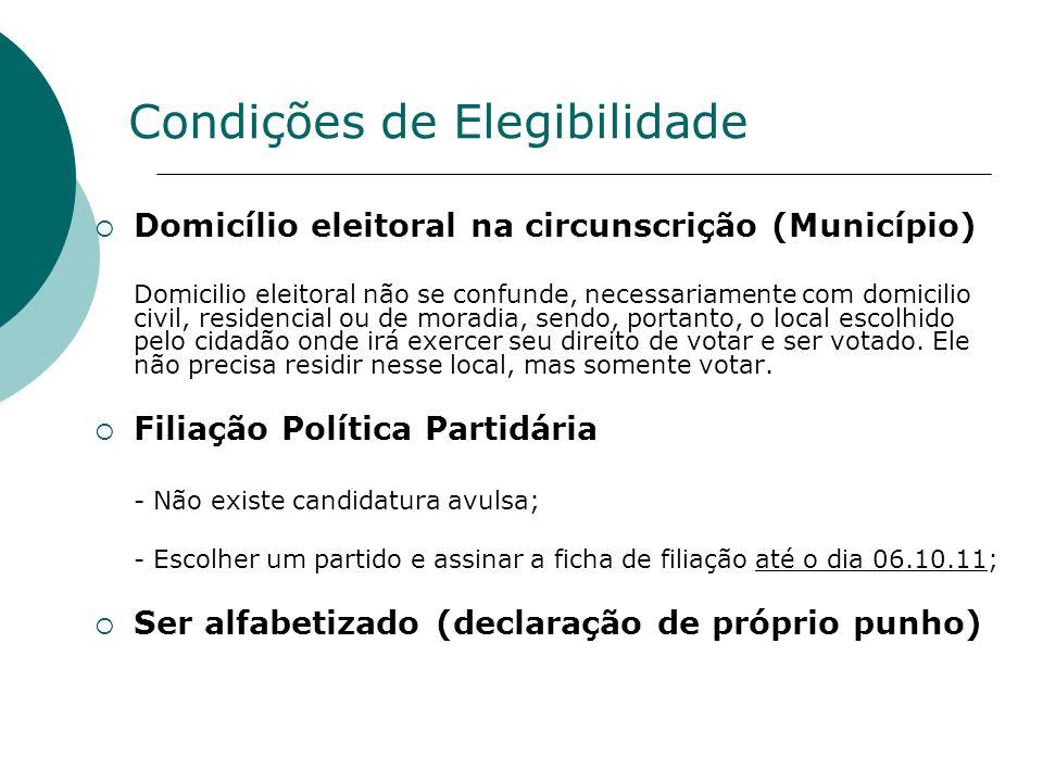 Domicílio eleitoral na circunscrição (Município) Domicilio eleitoral não se confunde, necessariamente com domicilio civil, residencial ou de moradia,
