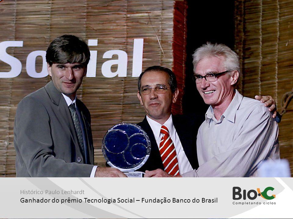Histórico Paulo Lenhardt Ganhador do prêmio Tecnologia Social – Fundação Banco do Brasil
