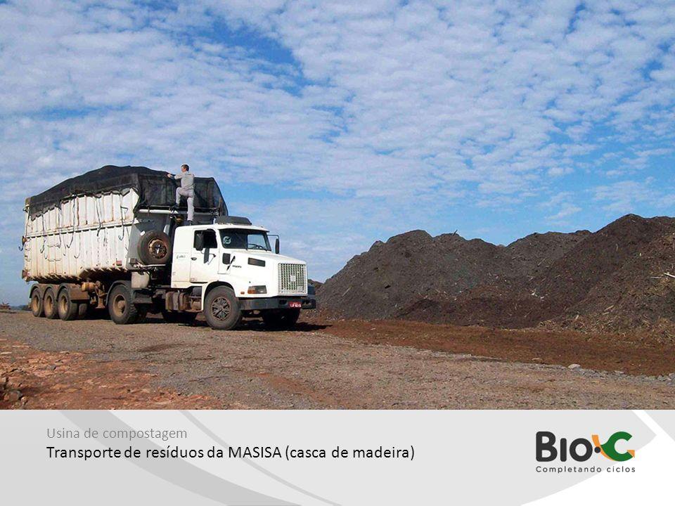 Usina de compostagem Transporte de resíduos da MASISA (casca de madeira)
