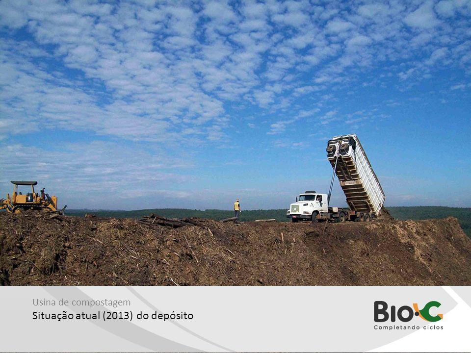 Usina de compostagem Situação atual (2013) do depósito