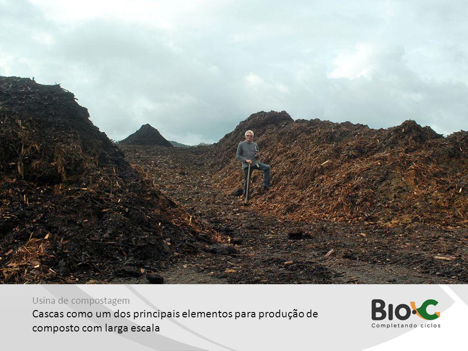 Usina de compostagem Cascas como um dos principais elementos para produção de composto com larga escala