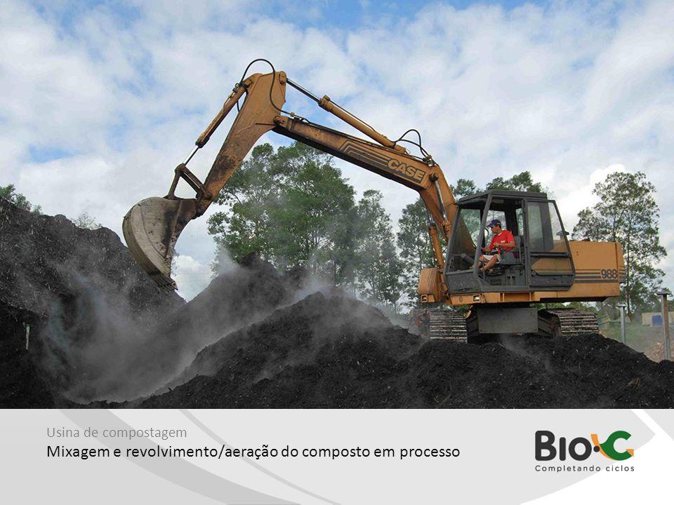 Usina de compostagem Mixagem e revolvimento/aeração do composto em processo