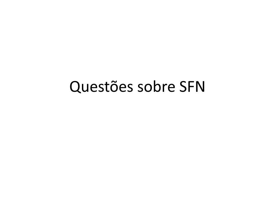 Questões sobre SFN