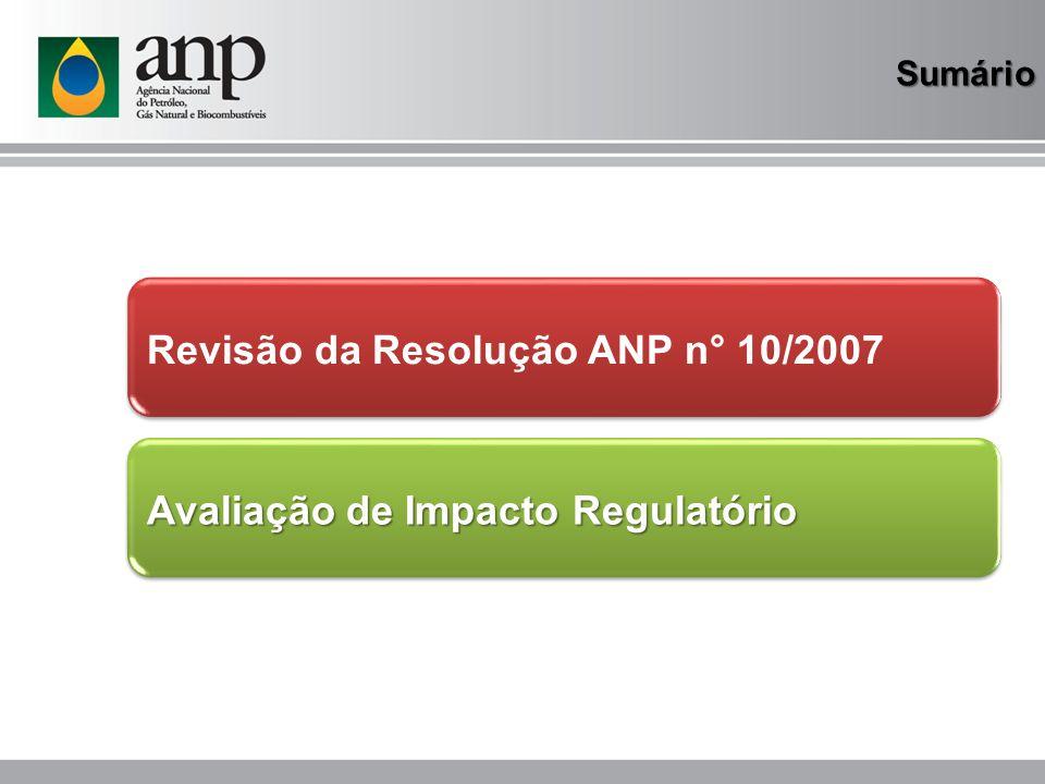 Revisão da Resolução ANP n° 10/2007 Principais mudanças Especificações 22.