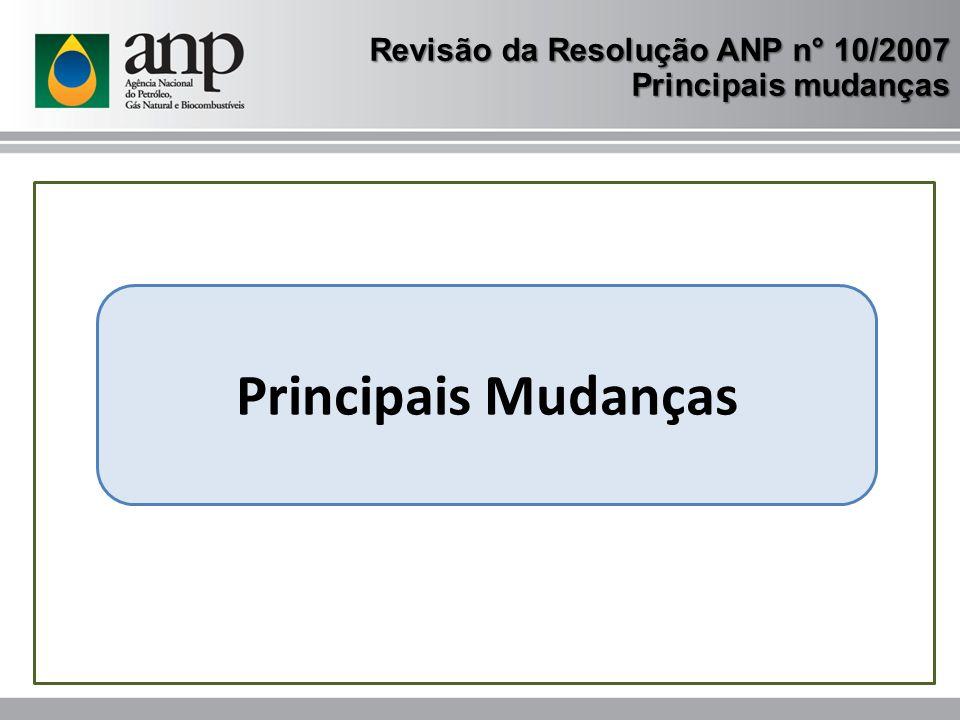 Superintendência de Biocombustíveis e de Qualidade de Produtos www.anp.gov.br CRC 0800 970 0267 Revisão da Resolução ANP n° 10/2007