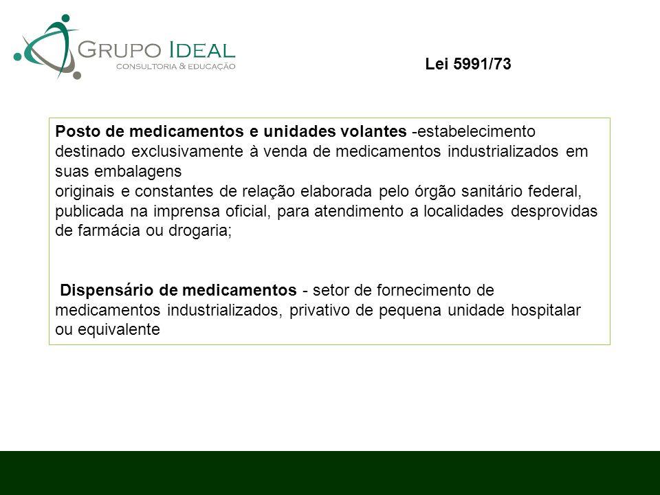 Posto de medicamentos e unidades volantes -estabelecimento destinado exclusivamente à venda de medicamentos industrializados em suas embalagens origin