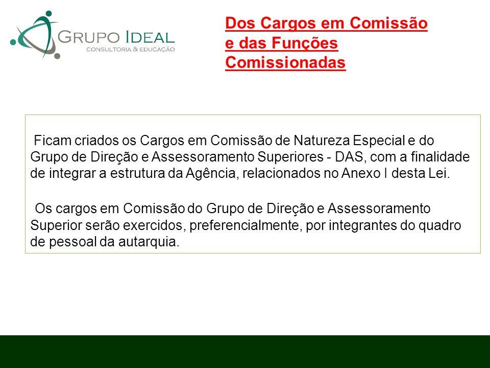 Ficam criados os Cargos em Comissão de Natureza Especial e do Grupo de Direção e Assessoramento Superiores - DAS, com a finalidade de integrar a estru