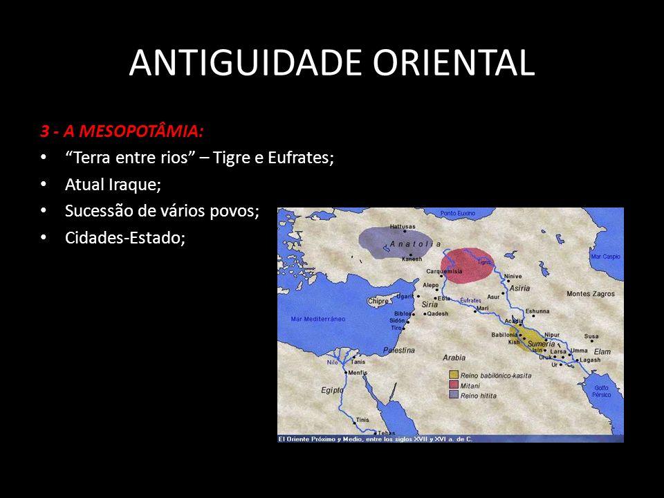 POVOLÍDERCIDADE(S)CARACTERÍSTICAS SumériosPatesi (rei) Ur, Uruk, Nippur, Lagash Escrita cuneiforme; Zigurates AcádiosSargão IIdem aos sumérios Unificação; AmoritasHamurábiBabilôniaCódigo de Hamurábi Assírios Assurbanipal Assur, NíniveViolência Caldeus Nabucodonossor BabilôniaConquistas territoriais; construções (Jardins Suspensos).