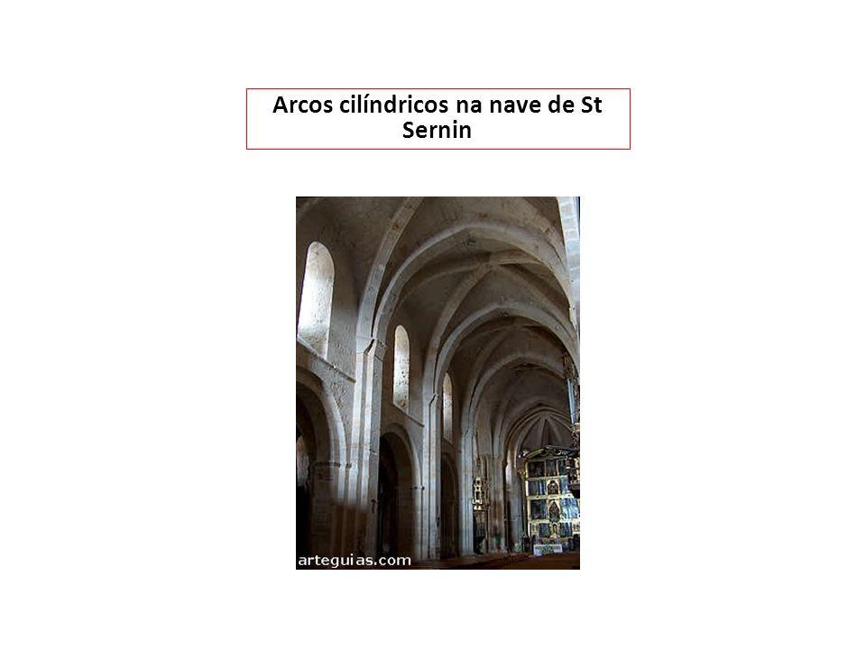 Arcos cilíndricos na nave de St Sernin