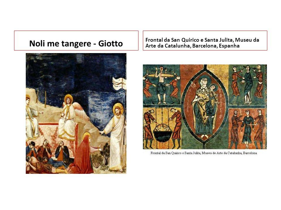 Noli me tangere - Giotto Frontal da San Quirico e Santa Julita, Museu da Arte da Catalunha, Barcelona, Espanha