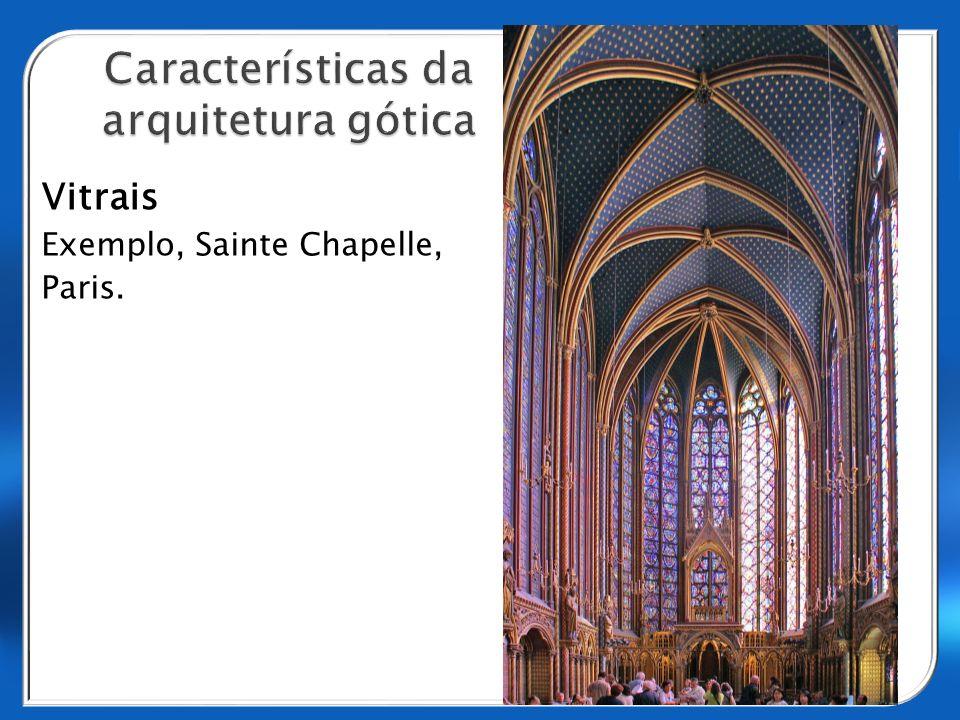 Vitrais Exemplo, Sainte Chapelle, Paris.